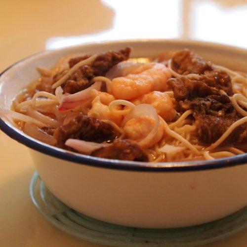 虾爆鳝面 – Flash Cook Shrimp and Eel Noodle